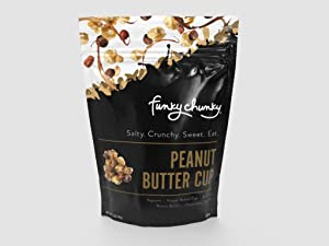 Funky Chunky 8 Pack Peanut Butter Cup Popcorn, 5 Ounce (Pack of 6)
