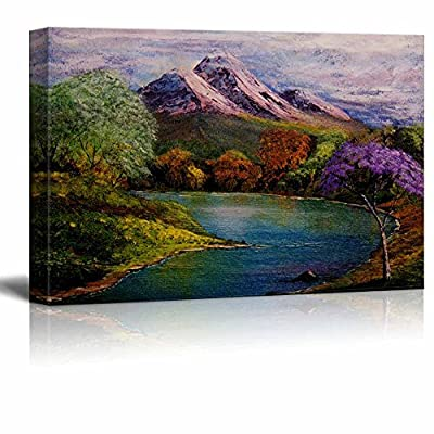 Fascinating Craft, Beautiful Scenery Landscape of The Spring Valley in Oil Painting Style Wall Decor, With Expert Quality