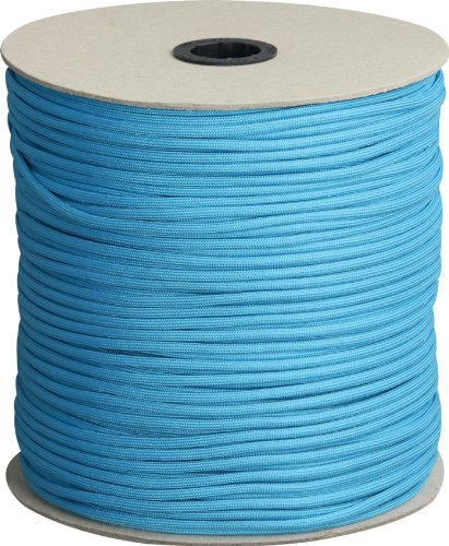 Parachute Cord Neon Turquoise.