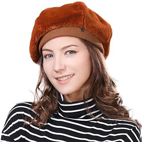 (Artist Beret French Barrett Hat Velvet Mime Director Womens Winter Cap Ladies Paris Stylish)