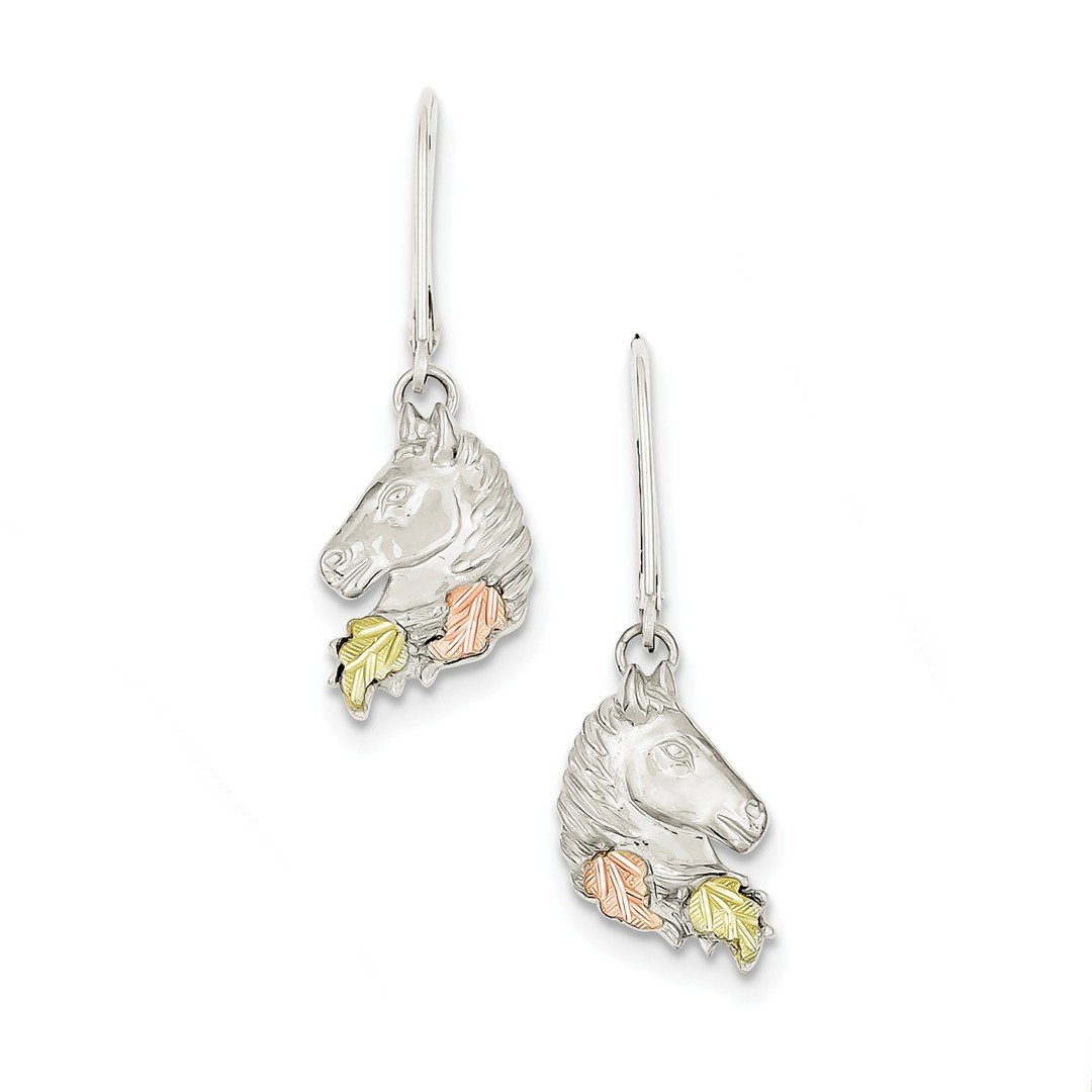 ICE CARATS 925 Sterling Silver 12k Small Horsehead Leverback Earrings Lever Back Drop Dangle Animal Horse Fine Jewelry Ideal Mothers Day Gifts For Mom Women Gift Set From Heart