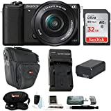 Sony a5100 ILCE5100LB w/16-50mm Lens Mirrorless Lens Digital Camera 32GB Bundle