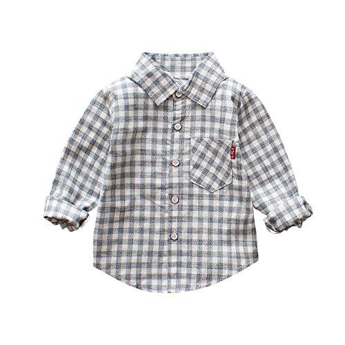553580cc0 Brightup Niño Niña Bebé Camiseta de Manga Larga Camisa a Cuadros de Algodón  del Otoño del