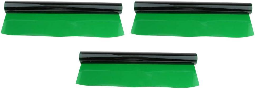 gazechimp 3Pieces 40x50cm Transparent Color Correction Lighting Gel Filter Colored Correction Overlays Plastic Filter Green