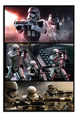 Star Wars Episode 7 Stormtrooper Panels Poster Gloss Laminated - 91.5 x 61cms (36 x 24 Inches)
