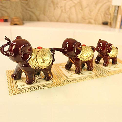 Creative Modern Abstract Resin Sculpture Elephant Family Artwork Decoration Indoor Living Room Study Office Crafts Statue Ornaments, Three Little Elephants ()
