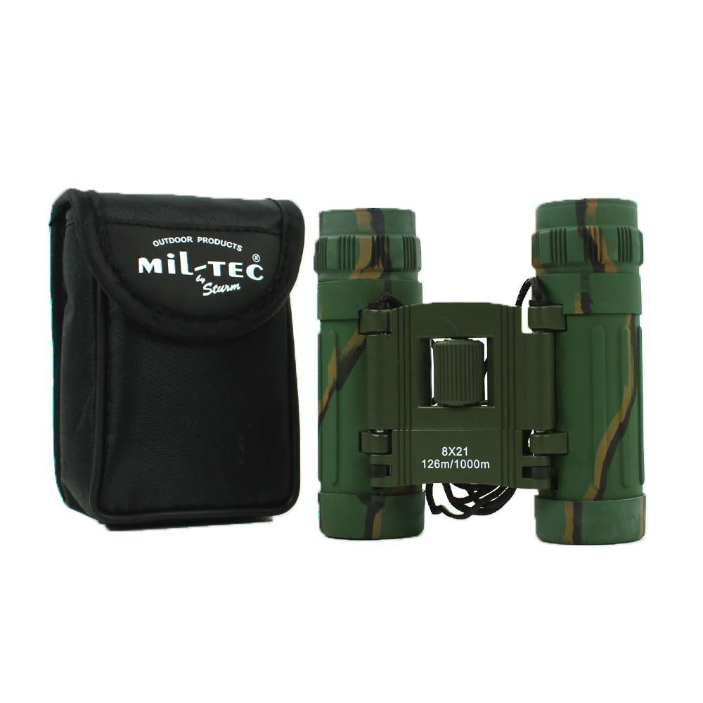Foldable Binocular 8x21 for Camping Outdoor Hiking Travel with Carry Pouch Camo
