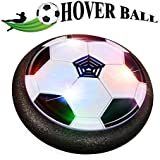 AYUQI Air Power Soccer Ball Kids Toys Amazing Hover Soccer Ball Football Games Soft Foam Bumpers Colorful LED Lights Indoor Outdoor Sports Boys Girls Children Pets Holiday Birthday World Cup Gift