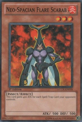 (Yu-Gi-Oh!! - Neo-Spacian Flare Scarab (LCGX-EN018) - Legendary Collection 2 - 1st Edition - Common )