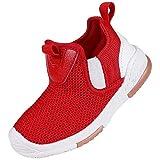 Toddler Kid's Sneakers Baby Girls Boys Slip On Tennis Shoes Red 5-5.5 Toddler