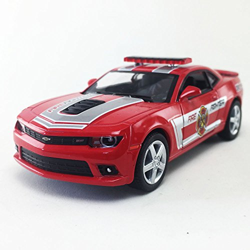 2014 Chevrolet Chevy Camaro Fire Fighter, Red Kinsmart 1:38 DieCast Model Toy Car Collectible