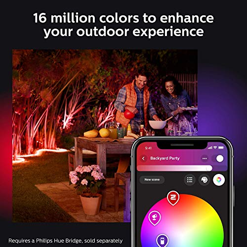 Philips Hue White & Color Ambiance Outdoor LightStrip 5m/16ft (Requires Hue Hub, Works with Amazon Alexa Apple HomeKit and Google Assistant) (Renewed) by Philips Hue (Image #7)