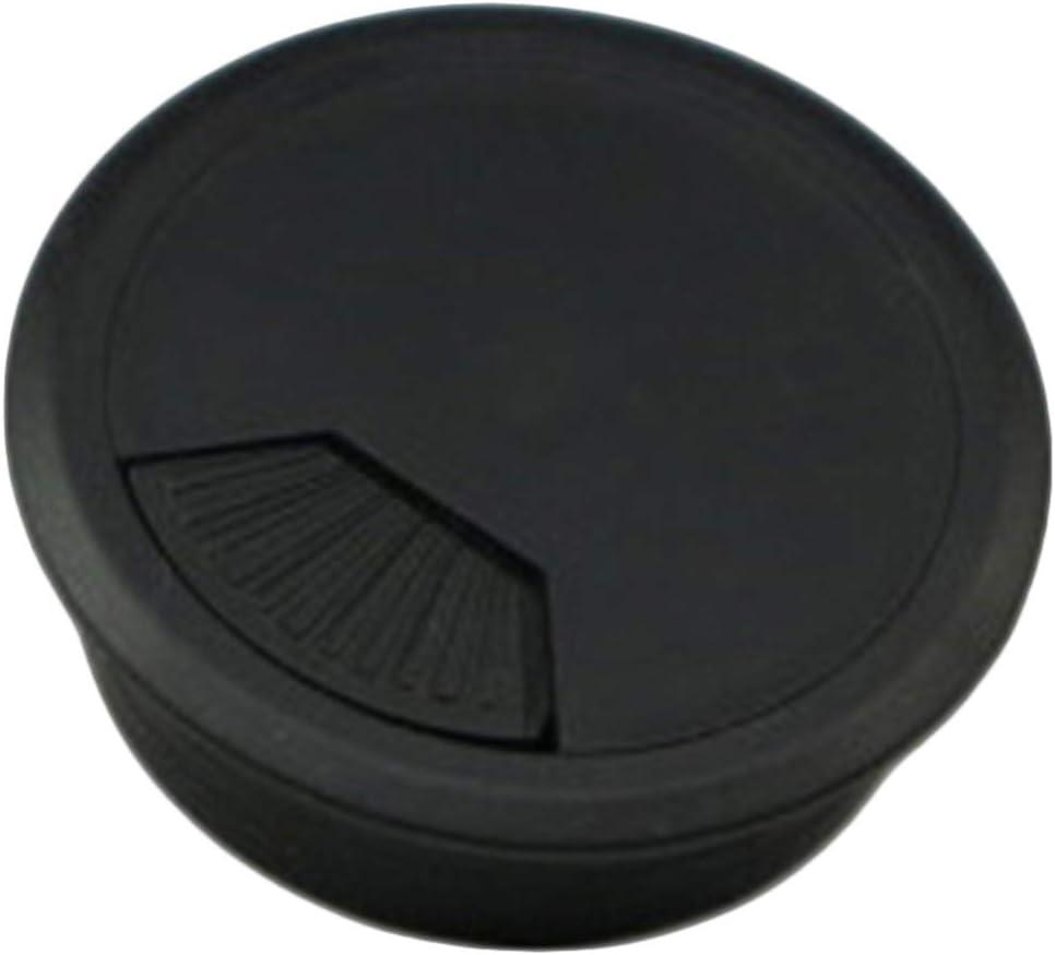 Insun 10 PCS Plastic Desk Wire Cord Cable Grommets Hole Cover for Office PC Desk Cable Cord Organizer Black 1.38 35mm