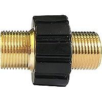 Stone Banks Slang Quick Connector, M22 x 1.5 Mannelijke Koperen Adapter, Dubbele Tepel Buiten 22mm Schroefdraadkoppeling…