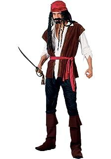 FDC Pirate Man Caribbean Pirate Gents Fancy Dress Costume XXL