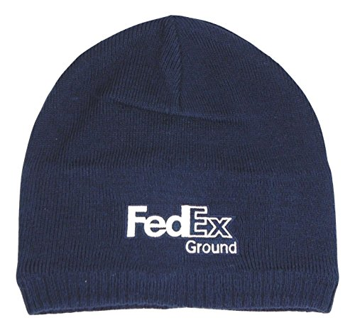 BDA FedEx Ground Embroidered Knit Cotton Beanie Skull (Ex Stores Mens Cotton)