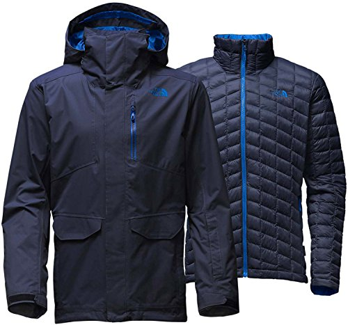 The North Face Men's ThermoBall Snow Triclimate Insulated Parka Ski Jacket - Medium - Urban Navy (Heat Signature Goggles compare prices)