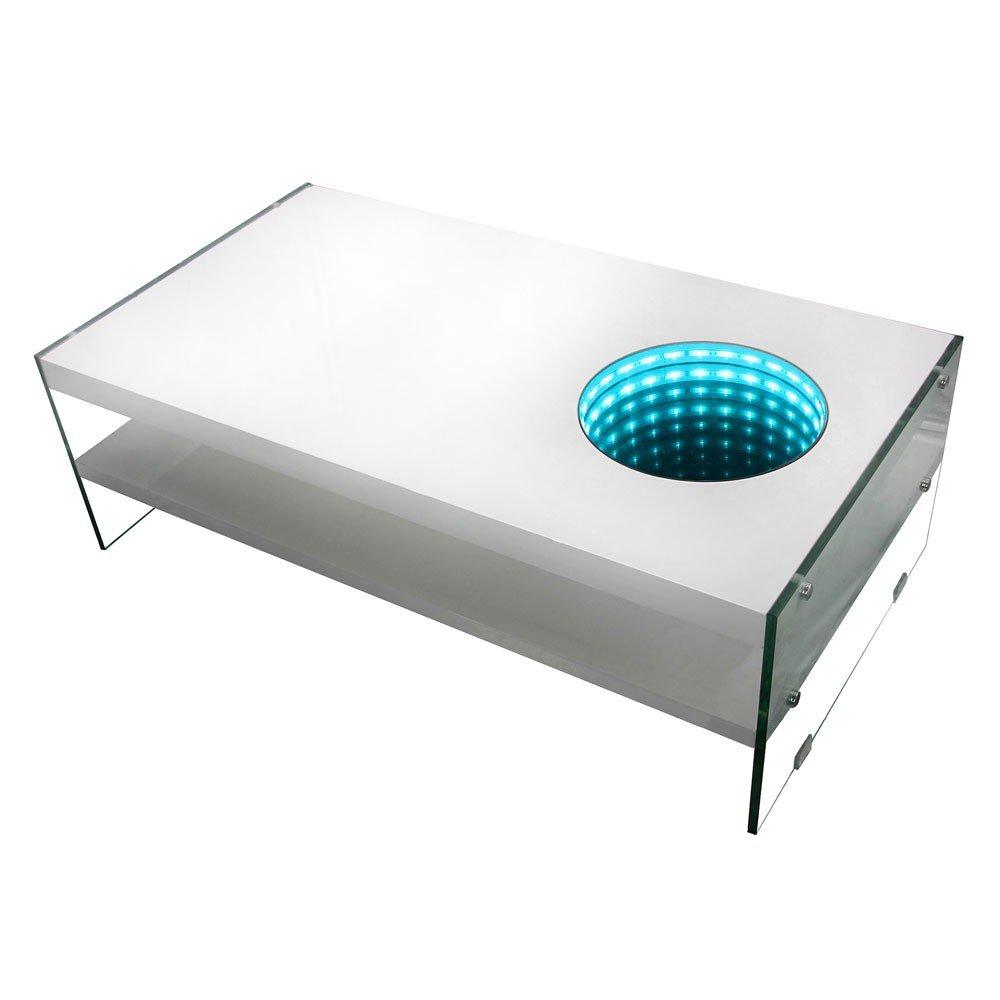 Home Deluxe - LED Tisch mit Tiefeneffekt - weiß