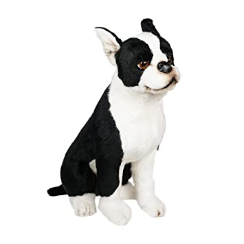 Amazon Com Boston Terrier Plush Stuffed Animal Handmade In Italy