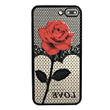 For iphone 7 Plus 5.5inch Case Sinfu Thin Mesh Rose Heat Dissipation Protective Cover (C)