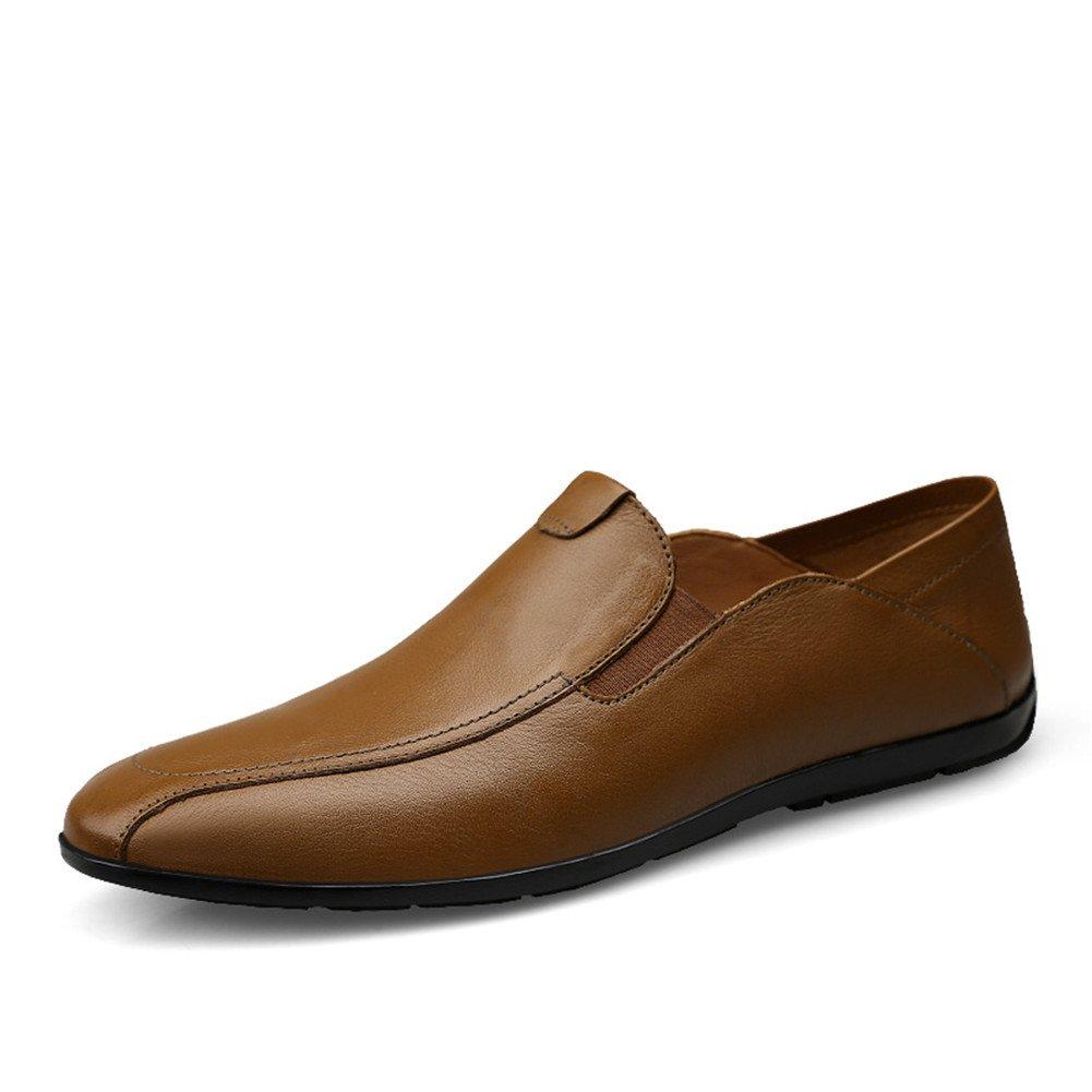 Simple Moda Mocasines Hombre Waterproof Negocios Zapatos Ponerse Casual Caminar 47 EU|Khaki