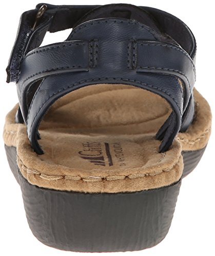 Wedge Navy by Cliffs Mountain Sandal Chambray Women's White Tc6RqX