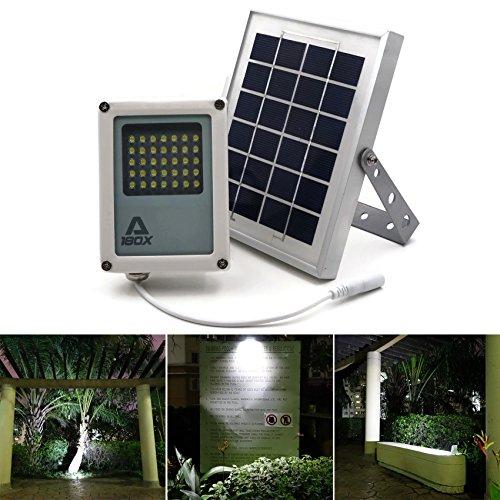 Solar Flood Light ALPHA 180X // Solar Security Light // L...