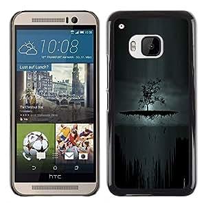 Oscuro Árbol de Goth - Metal de aluminio y de plástico duro Caja del teléfono - Negro - HTC One M9