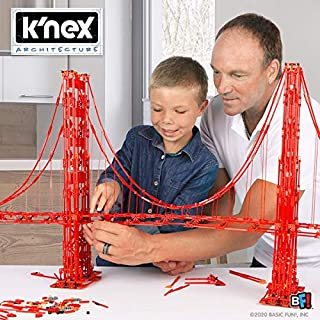 K'NEX Architecture: Golden Gate Bridge - Build IT Big - Collectible Building Set for Adults & Kids 9+ - New - 1,536 Pieces - Over 3 Feet Long - (Amazon Exclusive)
