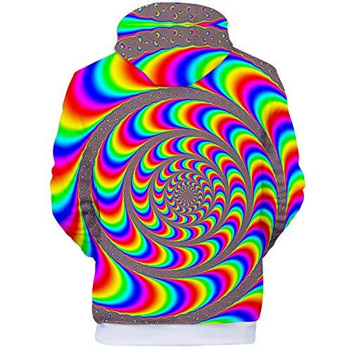 Pullover Mens Estampado Bolsillos Círculo Qmkj Colorido Unisex Fit Lana 3d Slim Con Jumpers Transpirable Polar Pareja Impresiones Sudaderas Capucha S0dAA6qaw