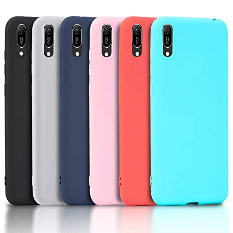 sito affidabile 1aef8 ca997 Wanxideng - 6X Coque pour Huawei Y6 2019, Housse Souple en TPU Silicone,  Soft Silicone Case Cover [ Noir + Blanc Translucide + Rouge + Rose + Menthe  ...