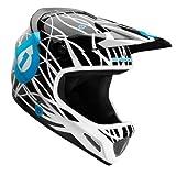SixSixOne Evo Wired Helmet (Black/Cyan, Small)