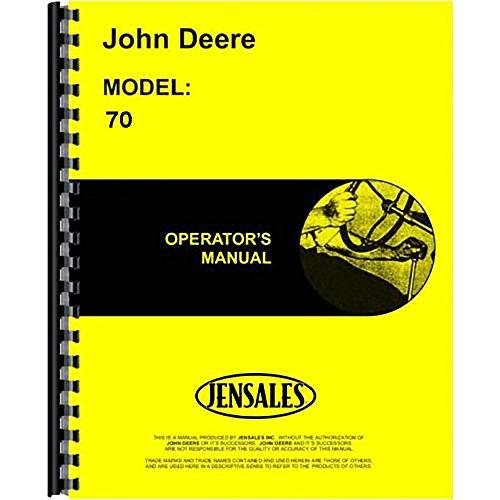New Operators Manual For John Deere 70 Tractor JD-O-OMR2035