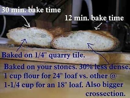 Fibrament-D Baking Stone FibraMent-D Rectangular Home Oven Baking Stone 15 by 20 inches
