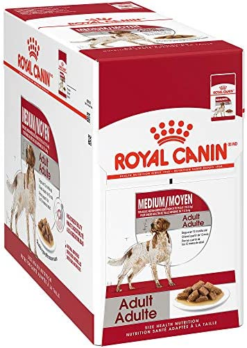 Royal Canin Size Health Nutrition Medium Breed Chunks in Gravy Pouch Dog Food