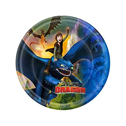 Hallmark How to Train Your Dragon Large Paper Plates (8ct)  sc 1 st  Amazon.com & Amazon.com: Hallmark How to Train Your Dragon Large Paper Plates ...