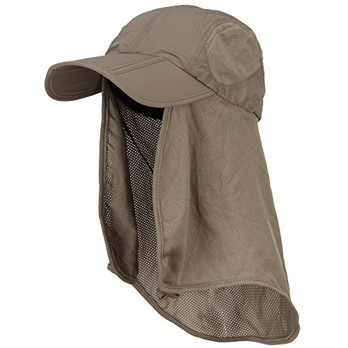 Juniper Taslon UV Folding Bill Cap with Mesh Flap - Olive OSFM