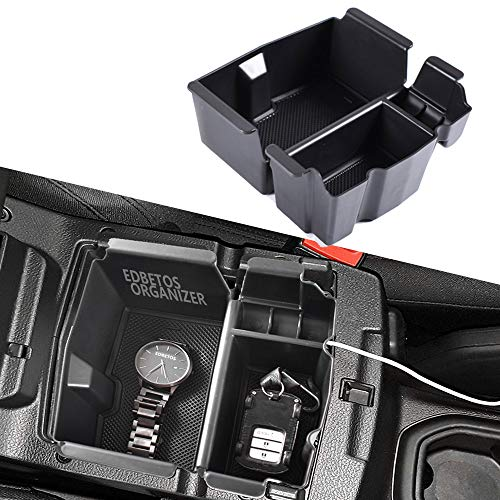 EDBETOS Center Console Organizer Tray for Jeep Wrangler JL JLU 2018-2019, Jeep Gladiator JT Truck (2020) Armrest Storage Glove Box - Jeep Rubicon Sport Sahara Moab Gladiator Accessories