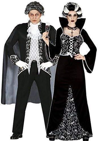 Mujer Y Hombre Parejas Negro/Blanco Real Disfraz De Vampiro ...