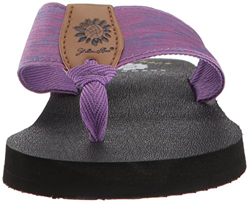 púrpura Yellow mujer para Chancleta Box de Yinn 8agfcxqS
