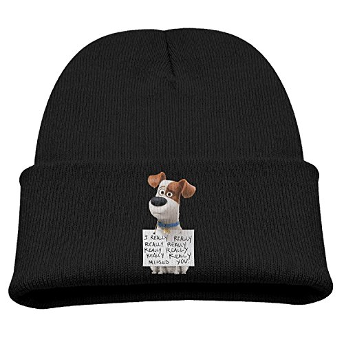 TINGHAO The Secret Life Of Pets Max Winter Knit Cap Beanie Cap For Kids Black -