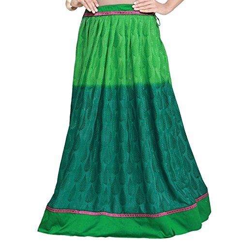 Handicrfats Crepe Women Export Skirt Indian Jacquard Admyrin Green xw8xaX