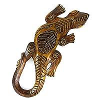 artigianale Salamandre/gecko/margouillat–Decorazione da parete in legno 30cm