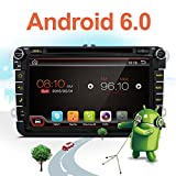 2G 32G 8 Inch Quad Core Android 6.0 Kit Kat HD 1024x600 Double 2 Din In Dash Radio For Polo Golf Passat B6 B7 Jetta Tiguan Touran