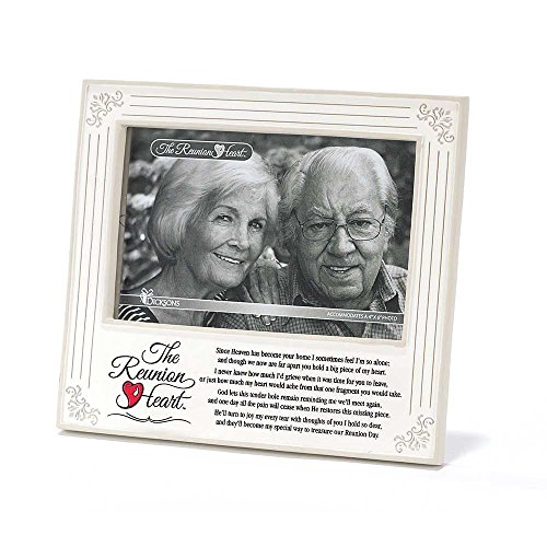Heart in Memory Resin Stone 4 x 6 Photo Frame with Easel ()