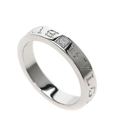 ca8904a390ca [ブルガリ]ダブルロゴリング/ダイヤモンド リング・指輪 K18ホワイトゴールド レディース (