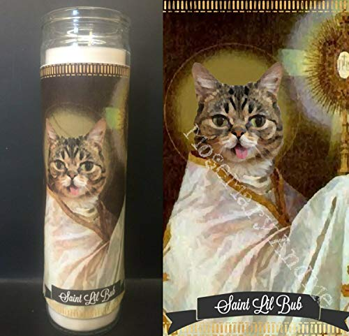Mose Mary and Me Lil Bub Cat Devotional Prayer Saint Candle