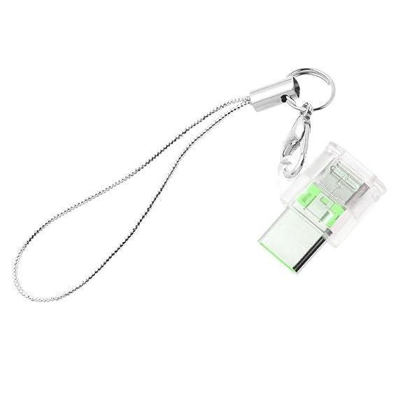 Jenor USB 3.1 Typ C Stecker auf Micro USB Buchse Konverter Schlüsselanhänger für Android-Handys