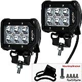 "2 Pack - EPAuto 4"" 18W 1260lm Cree LED Light Bar Spot Beam Waterproof Mount for SUV / Boat / Jeep / Van / ATV / SUV / Offroad"