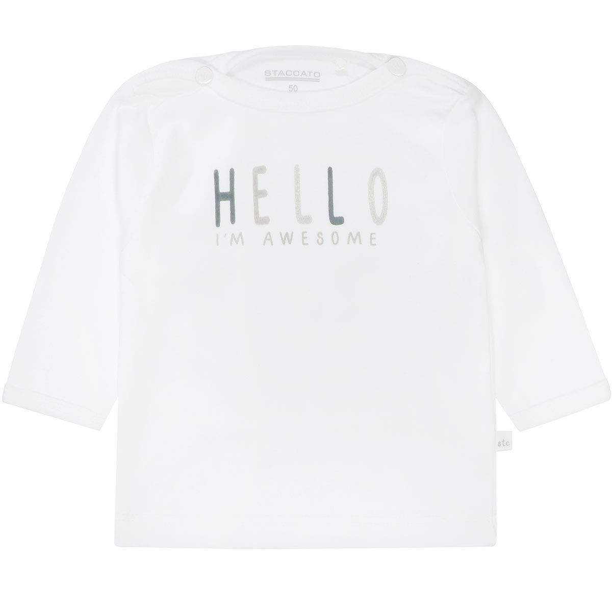 Baby Shirt Hello 230070580 White Staccato Unisex